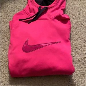 Bright Pink Nike Hoodie with Thumb Holes!